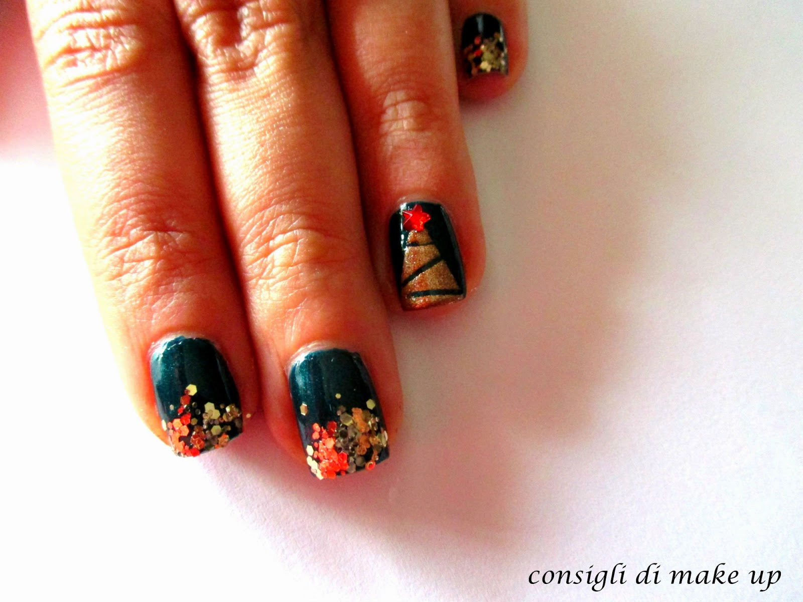tutorial nail art natale