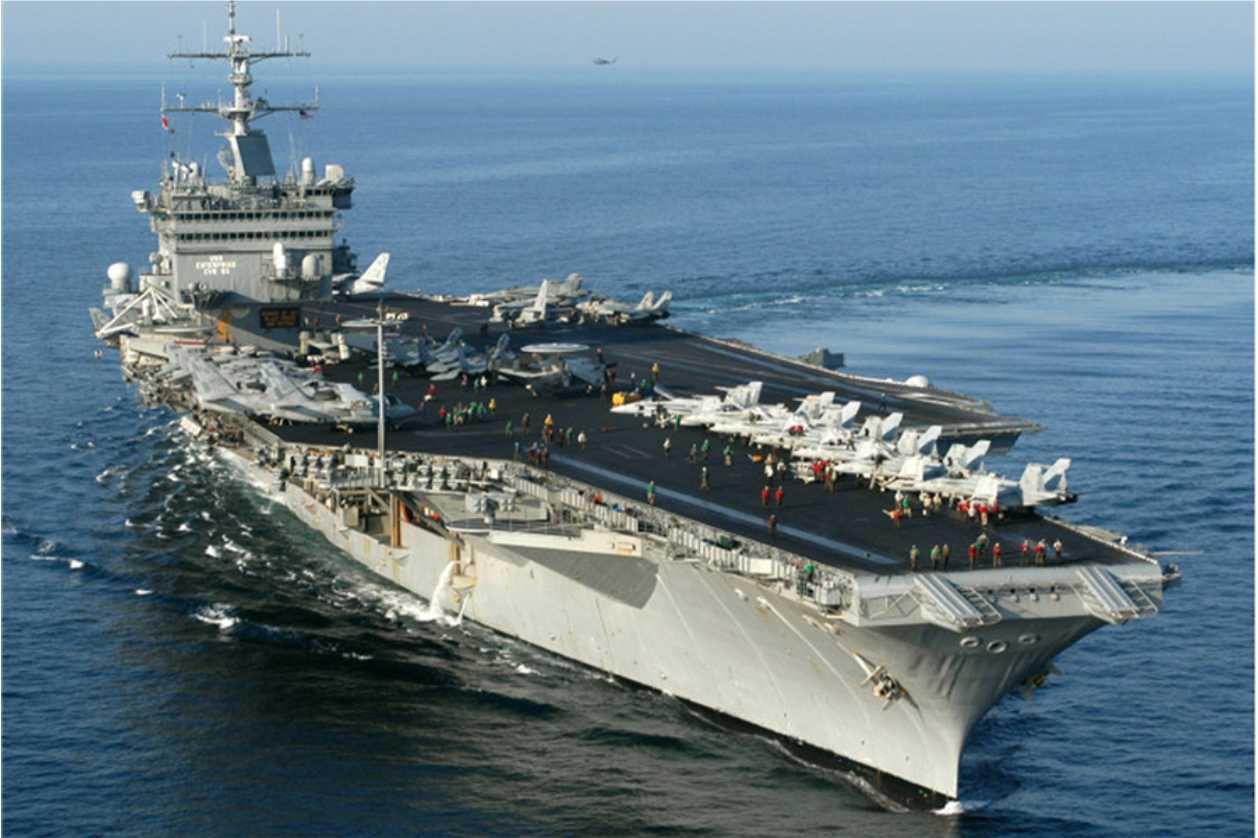 porta aviões nuclear a fazer parte da frota da Marinha de Guerra dos #2B4C63 1258 838