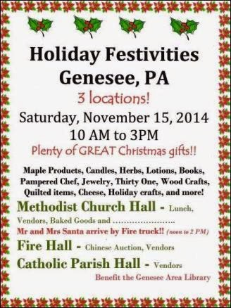11-15 Genesse, Holiday Festivities
