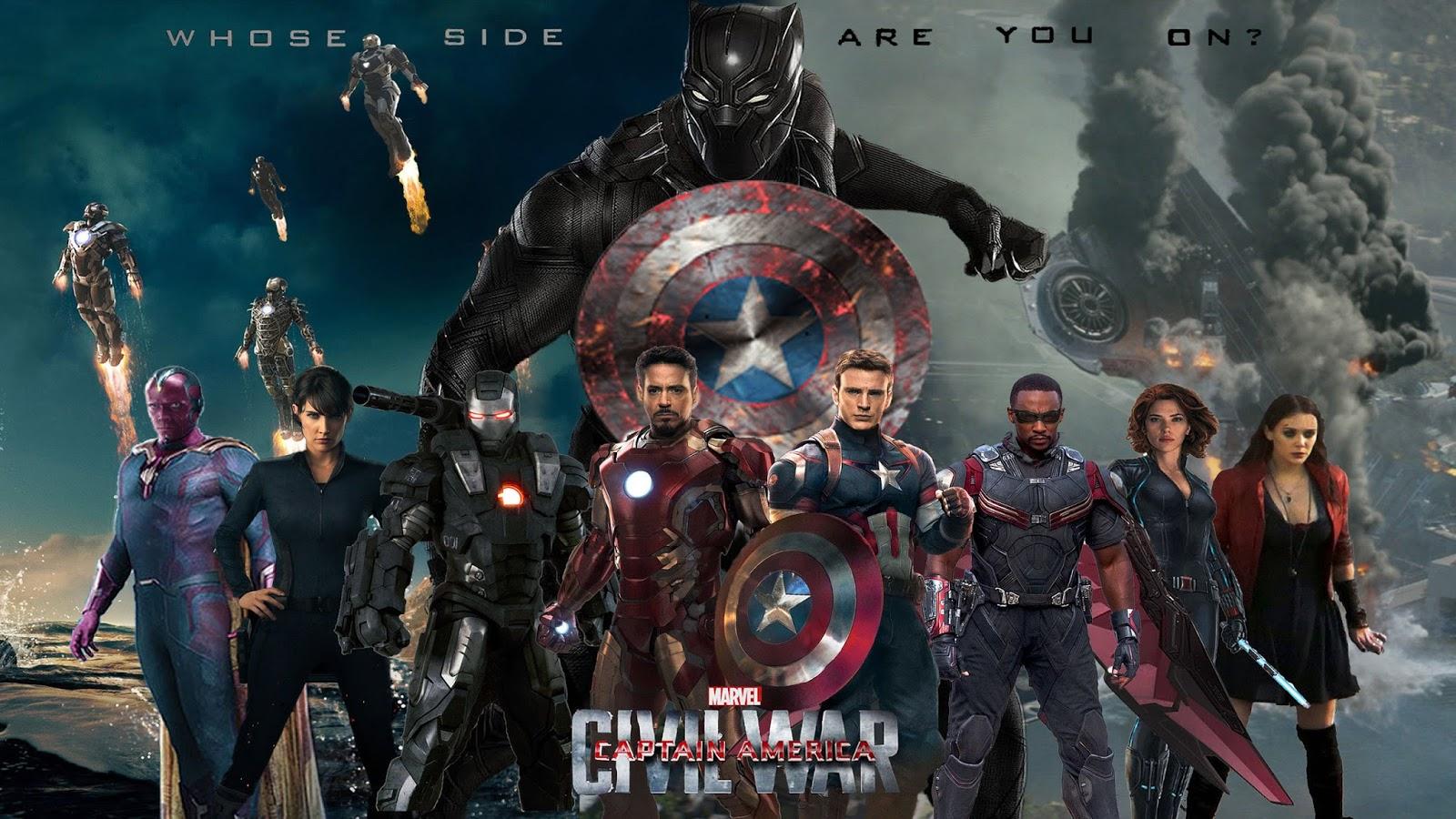 grátis papel de parede do filme Capitão America Guerra Civil em