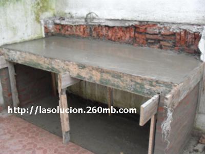 Construcci n del piso de la barbacoa o churrasquera uruguaya - Como construir una barbacoa de ladrillo ...