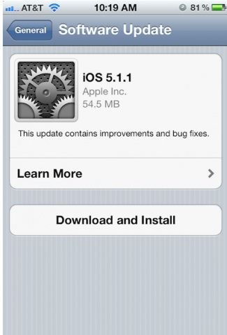 Apple iOS 5.1.1 Update