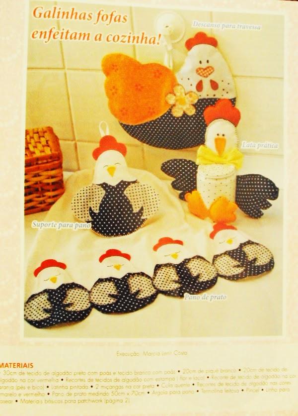 Moldes família de galinhas de tecido