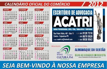 CALENDARIO OFICIAL DO COMERCIO DE CAJAZEIRAS PB