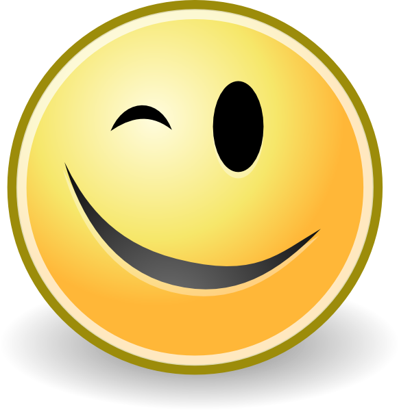 Big Wink Smiley with Friendly Gesture | Smiley Symbol
