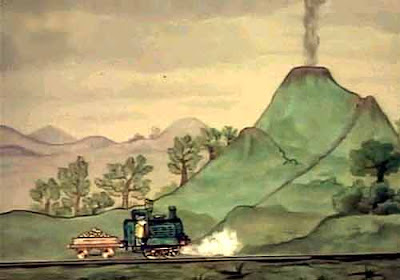 Ivor the train engine Jones the steam climbed up the side of the smocking hill and opened its lid