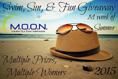 Enter the Swim, Sun, & Fun Giveaway. Ends 7/9
