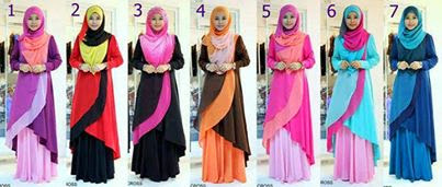 Mark Down Price. Sangat Murah. Available Ready Stock.Chiffon Cross Fishtail.