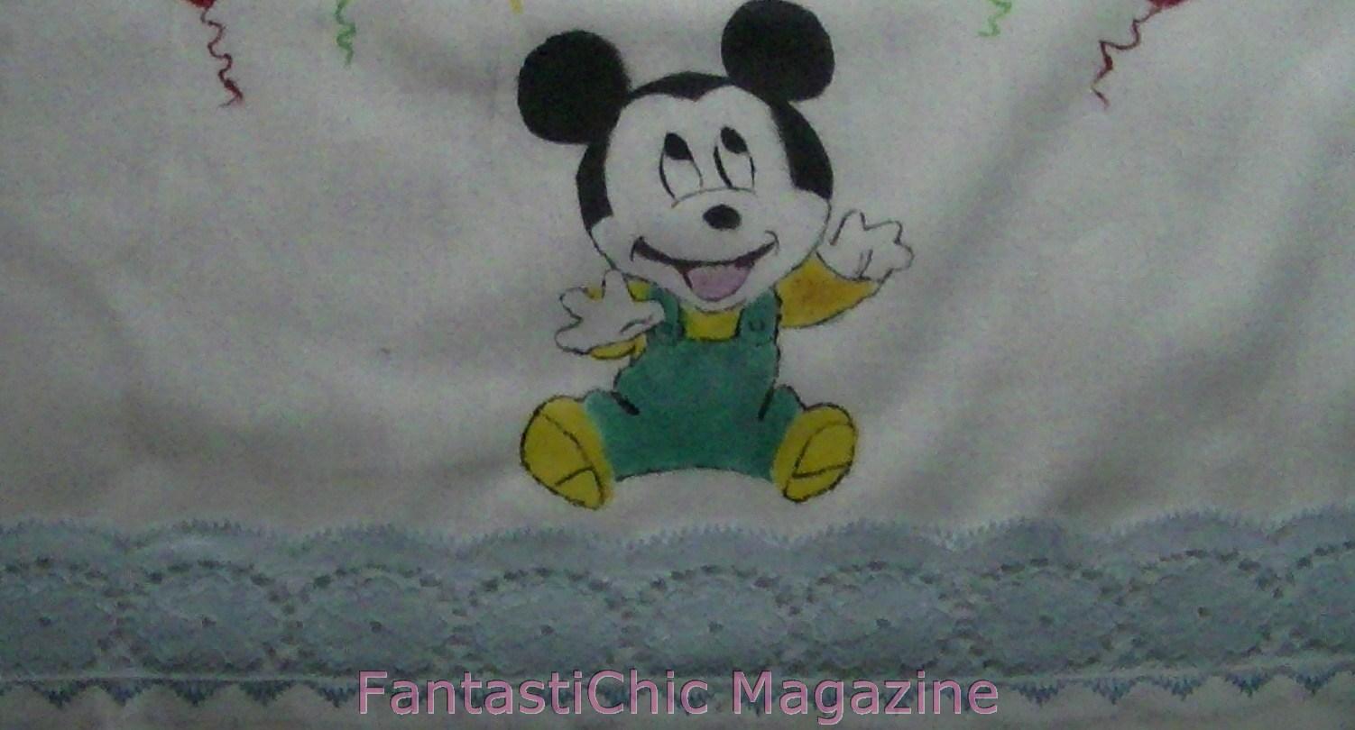 FantastiChic Magazine Pintar un Mickey Mouse en Tela  Juego de