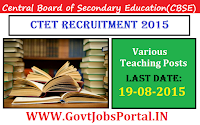 CBSE CTET RECRUITMENT 2015