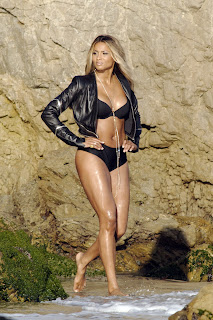 Ciara  wearing a bikini  in Malibu