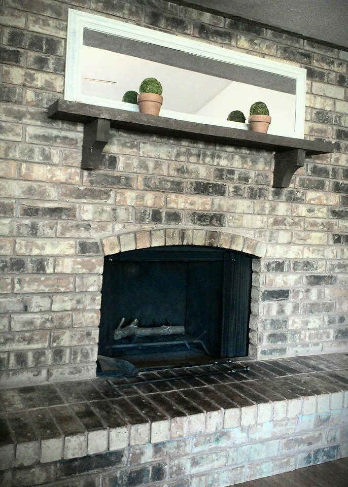 For What It 39 S Worth DIY How To Repair Cracked Fireplace Brick