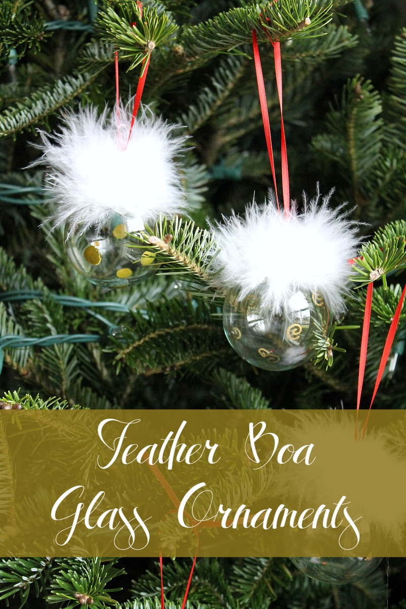 DIY Feather Boa Christmas Ornaments