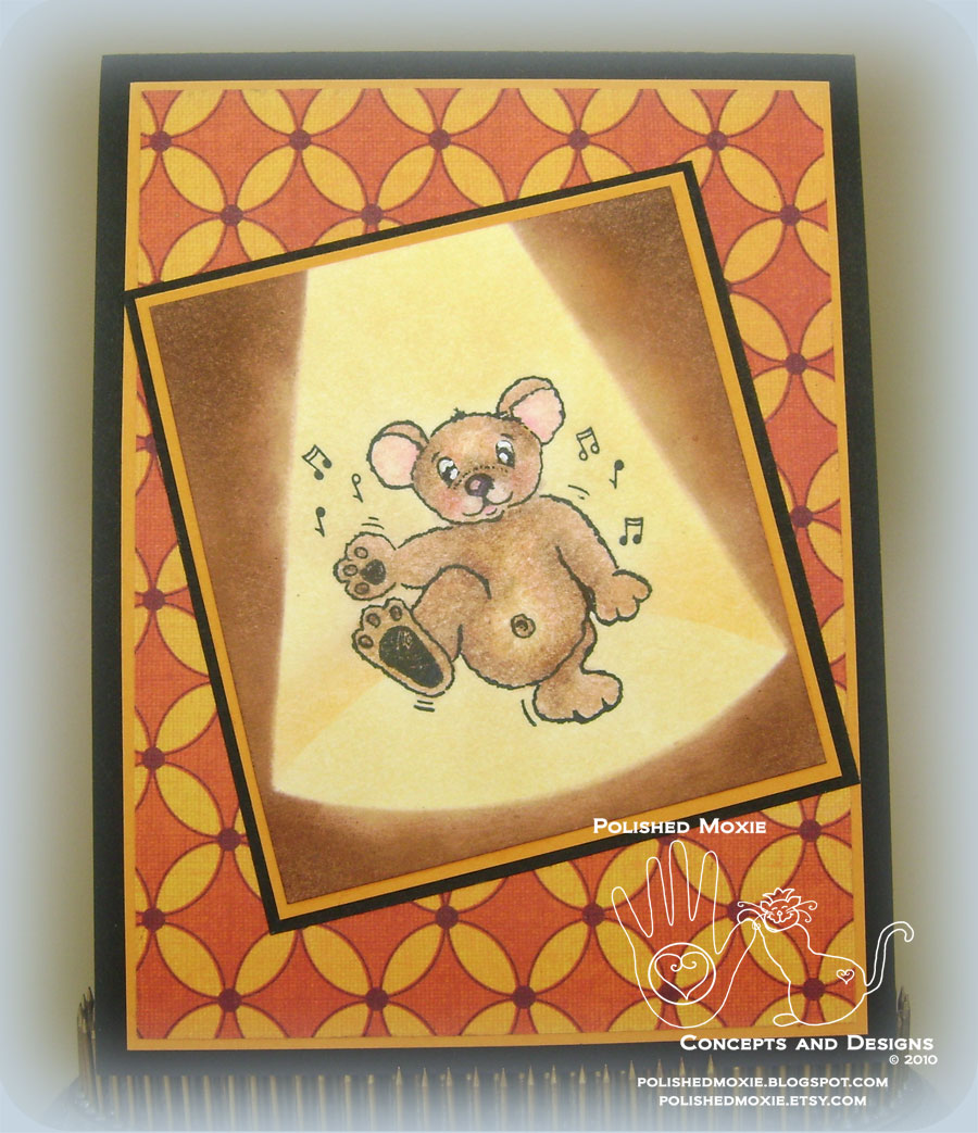 Picture of handmade dancing bear card