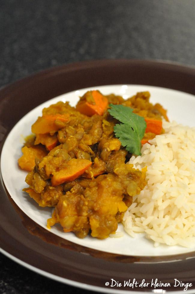 easy peasy, Dal, Linsen-Kürbis-Dal, deliciously ella, vegetarisch vegan, linsen, kürbis