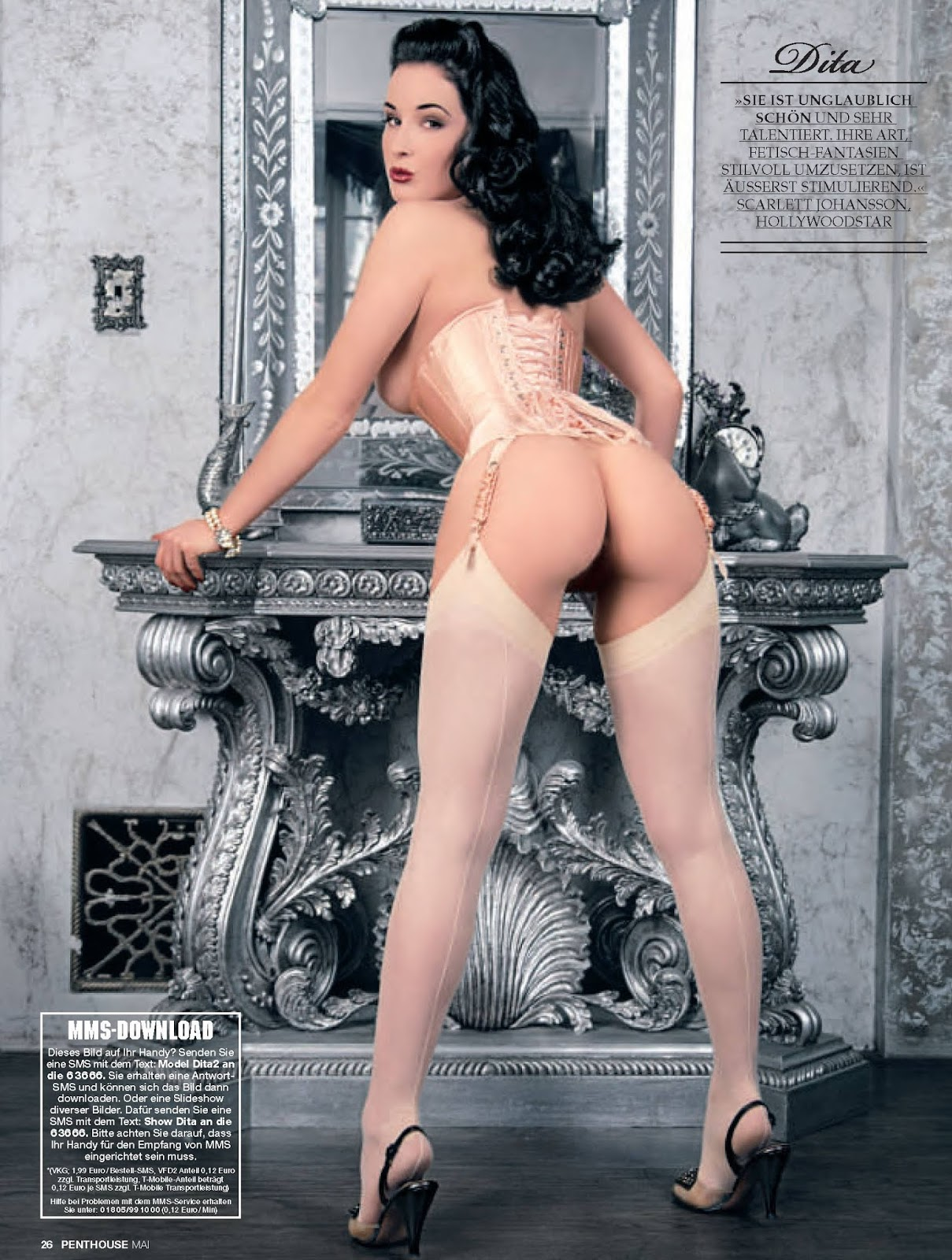 Dita Von Teese Penthouse Germany May