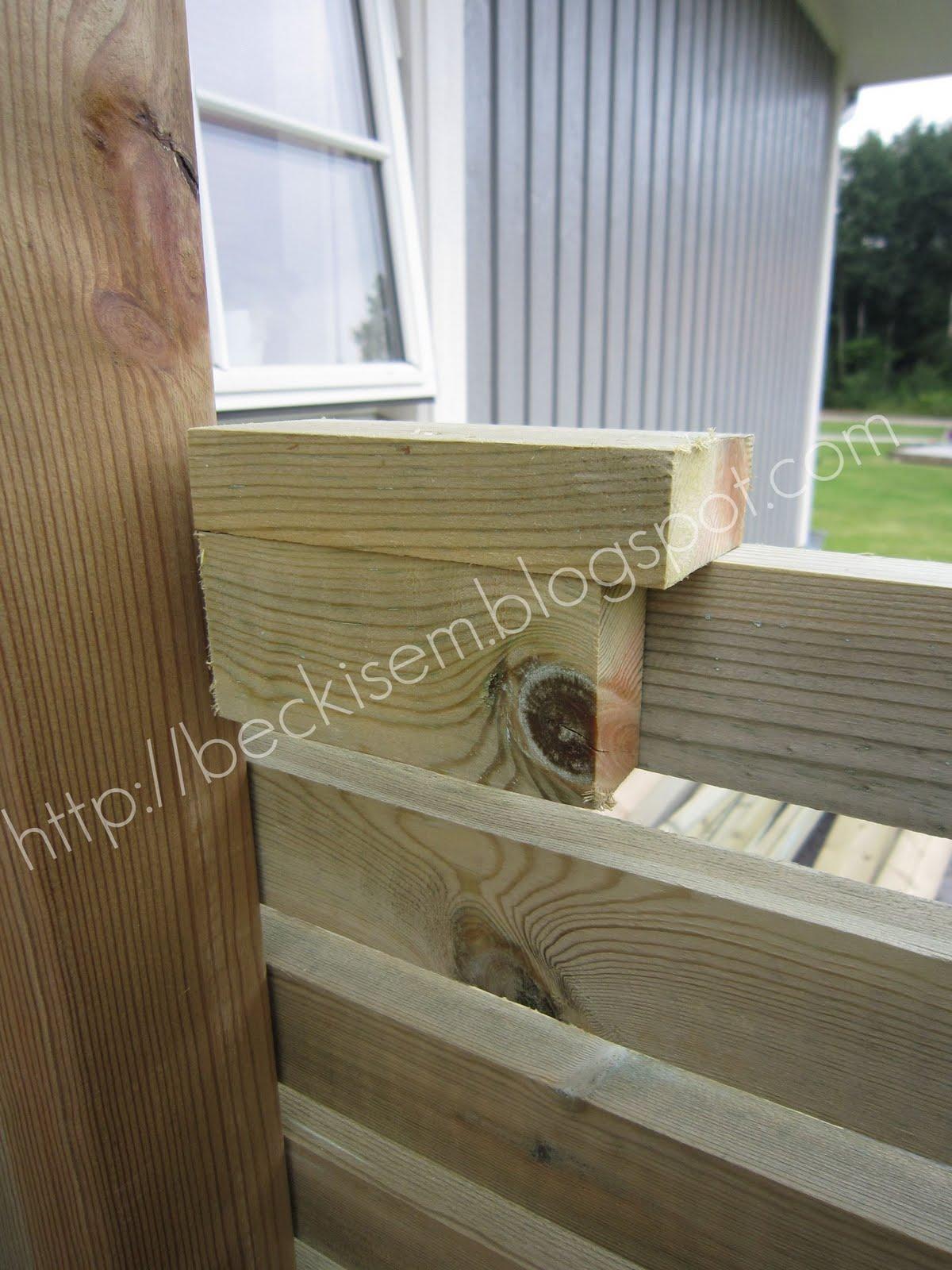 Beckis & Em - Villa Trend: Vindskydd och staket