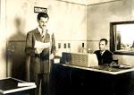 locutor y operador de radios antiguas
