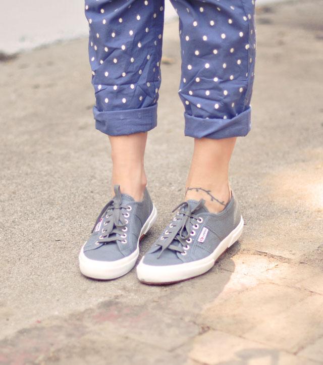 women's overalls, polka dot overalls