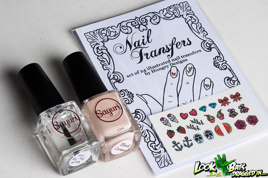 Sayuri Nail Lacquer Hungry Designs Nail Transfers