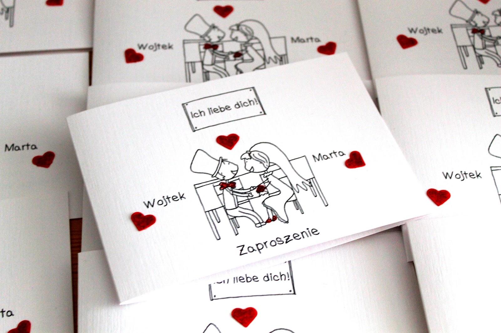 Wyczarowane Z Papieru Zaproszenia ślubne Z Humorem Indywidualne