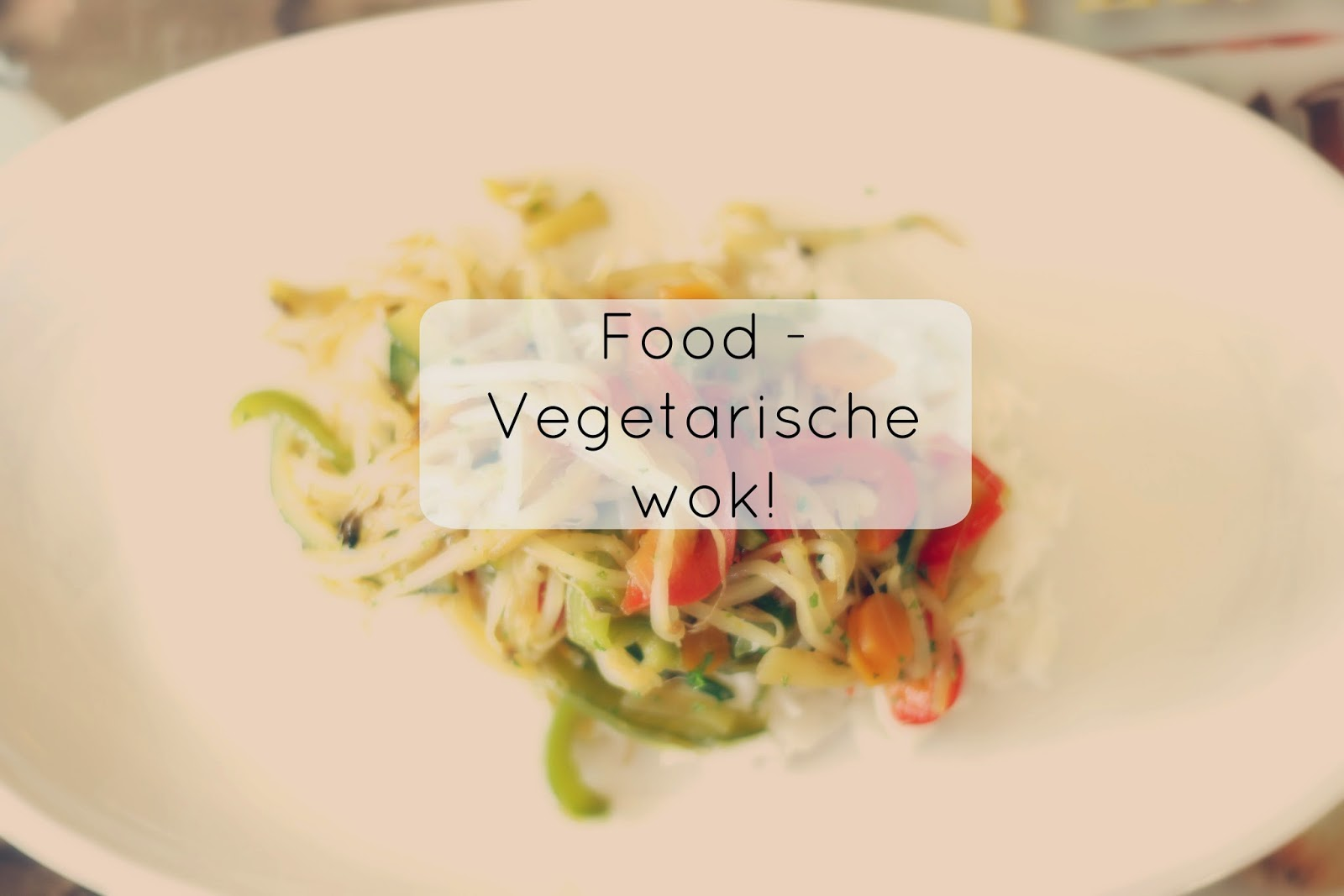 food recept vegetarische wok