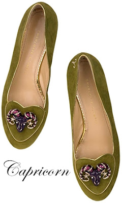 Charlotte Olympia Capricorn Suede Flats Cosmic Collection