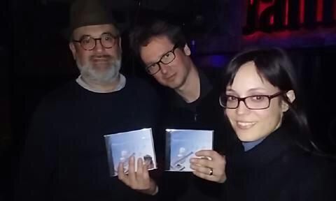 Amb Olivier Durand, Helena Pérez i "Notes Blaves per l'Autisme"