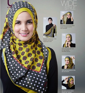 Model Hijab Segi Empat Simple