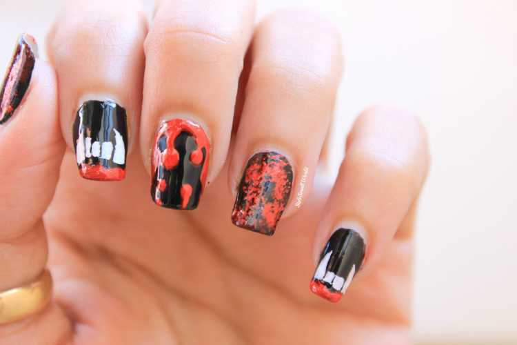 Style small world im sure you are gonna love this vampire design on your nails last year i uploaded 4 halloween nail art design if you are interested then click here for prinsesfo Choice Image