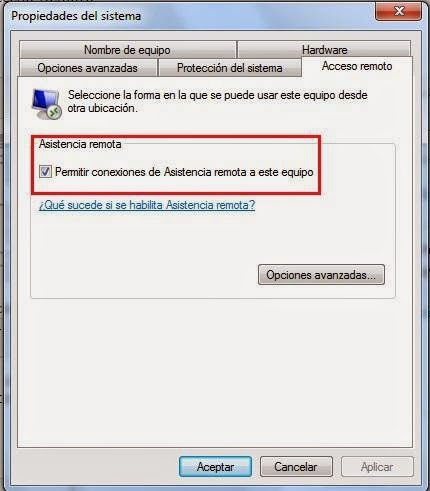 Soporte tecnico a distancia conexi n de escritorio remoto for Conexion escritorio remoto windows 8