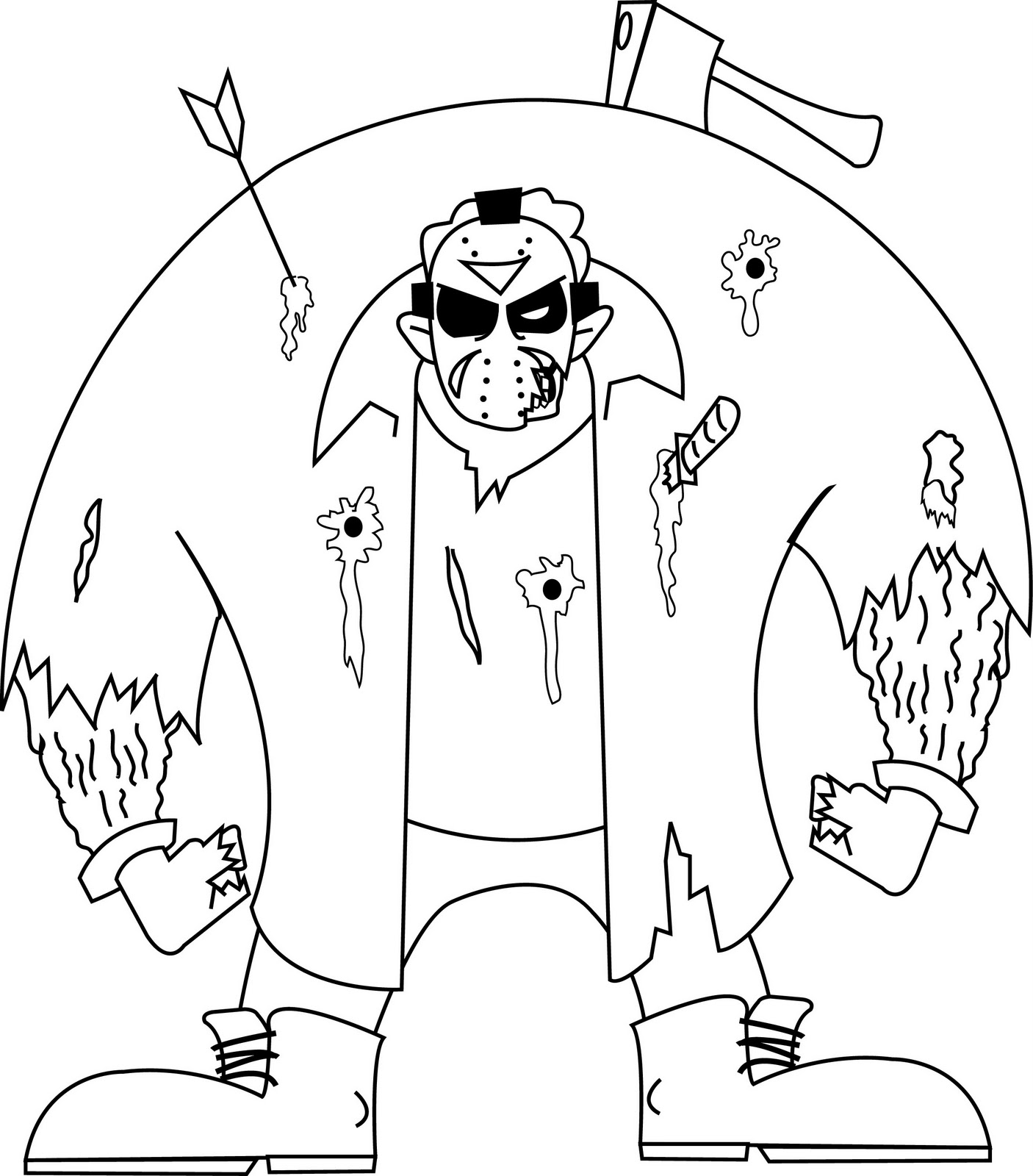 Pin chucky doll coloring pages on pinterest for Chucky doll coloring pages