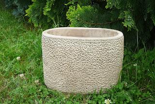 donica duża, ceramiczna, beżowa