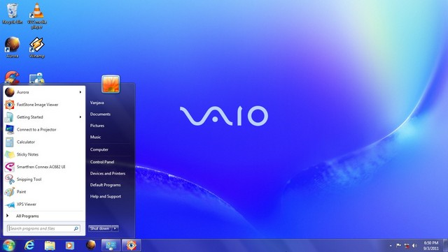 sony vaio03 windows 7 themes
