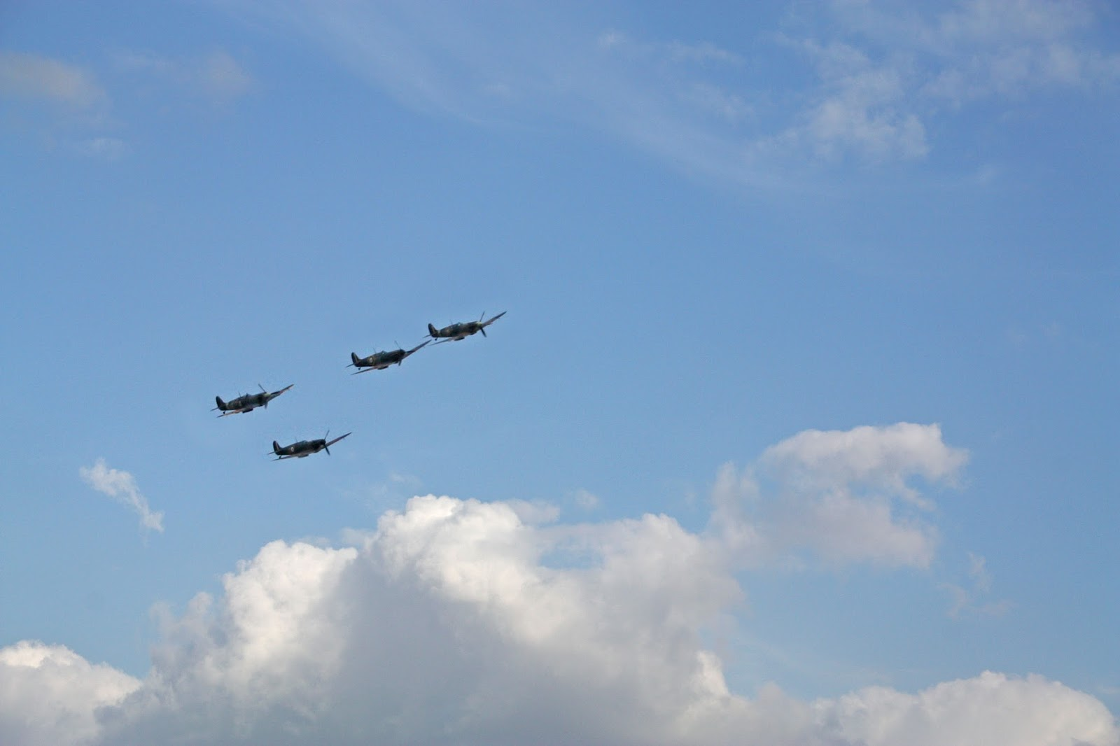 Duxford Airshow September 14th 2014 - Four Spitfires