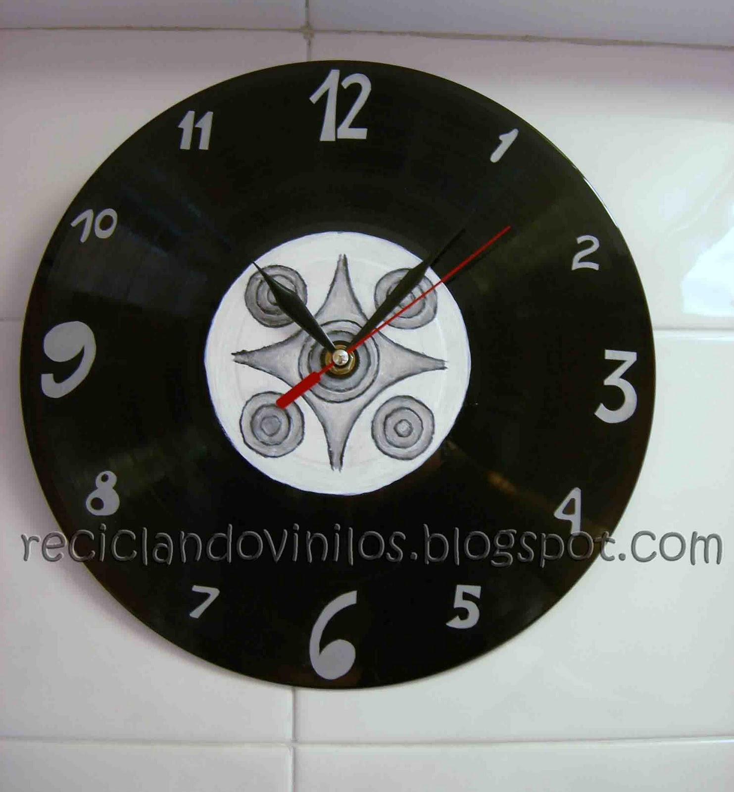Itziar reciclando vinilos relojes - Relojes de vinilo ...