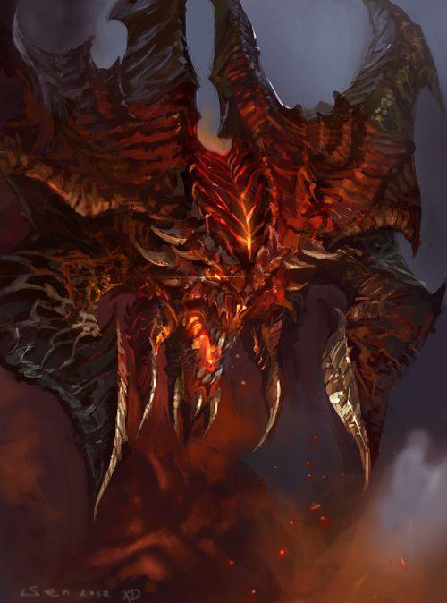 HongWen xaeroaaa deviantart ilustrações fantasia ficção científica Diablo