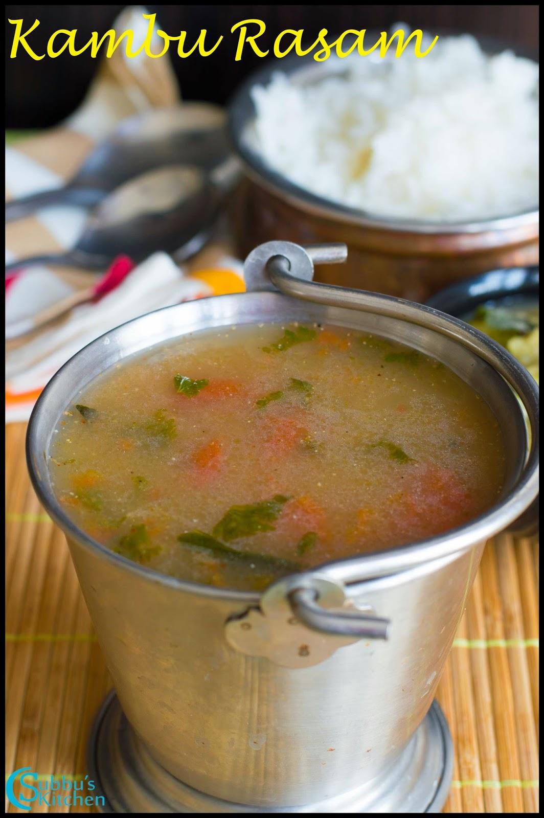 Kambu Rasam Recipe | Pearl Millet Rasam Recipe | Bajra Rasam