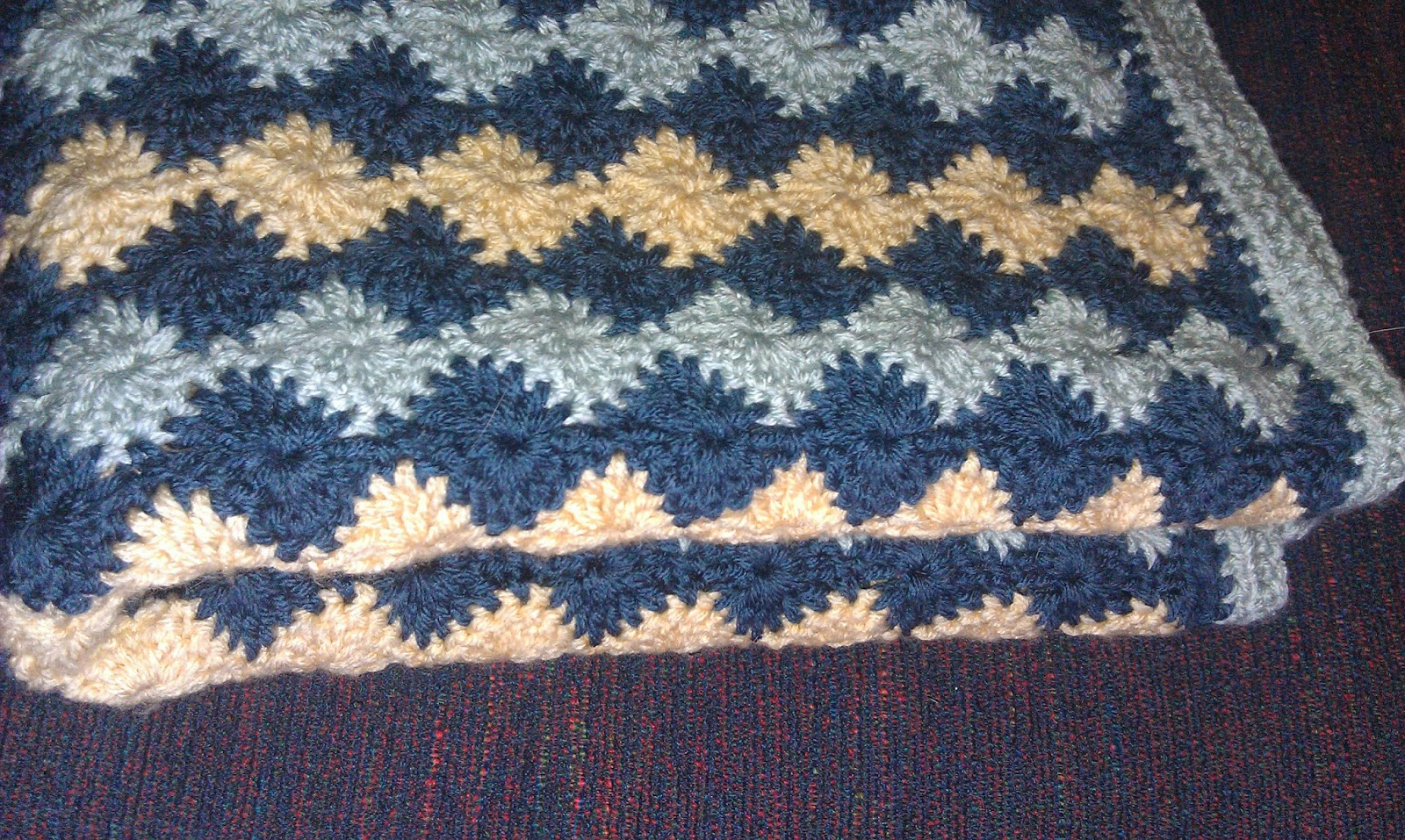 Catherine Wheel Stitch Crochet Afghan plus Pattern