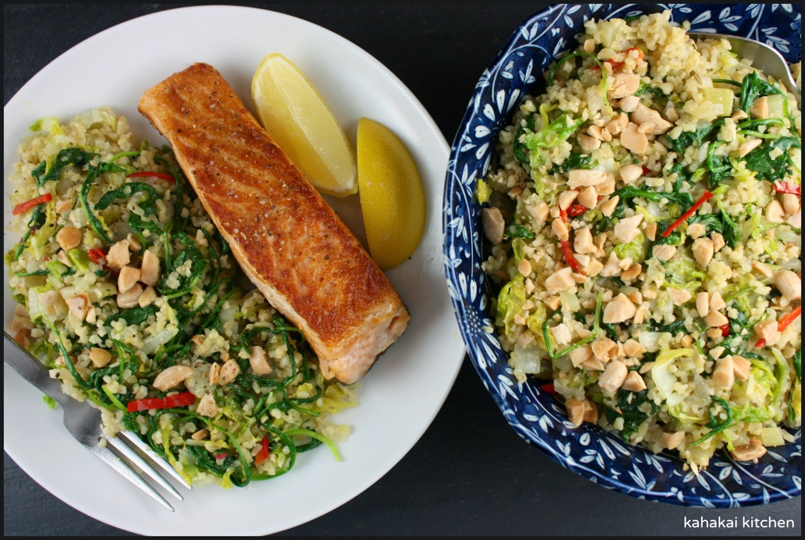 kahakai kitchen freekeh with greens fennel and chile a happy healthy dish for the new year. Black Bedroom Furniture Sets. Home Design Ideas
