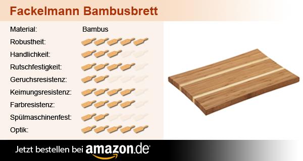 Fackelmann Schneidebrett Bambus