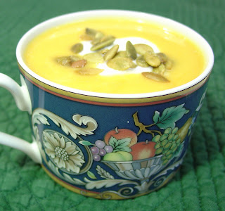 Creamy Sweet Potato Soup Prepared with Dannon's Yogurt Recipe