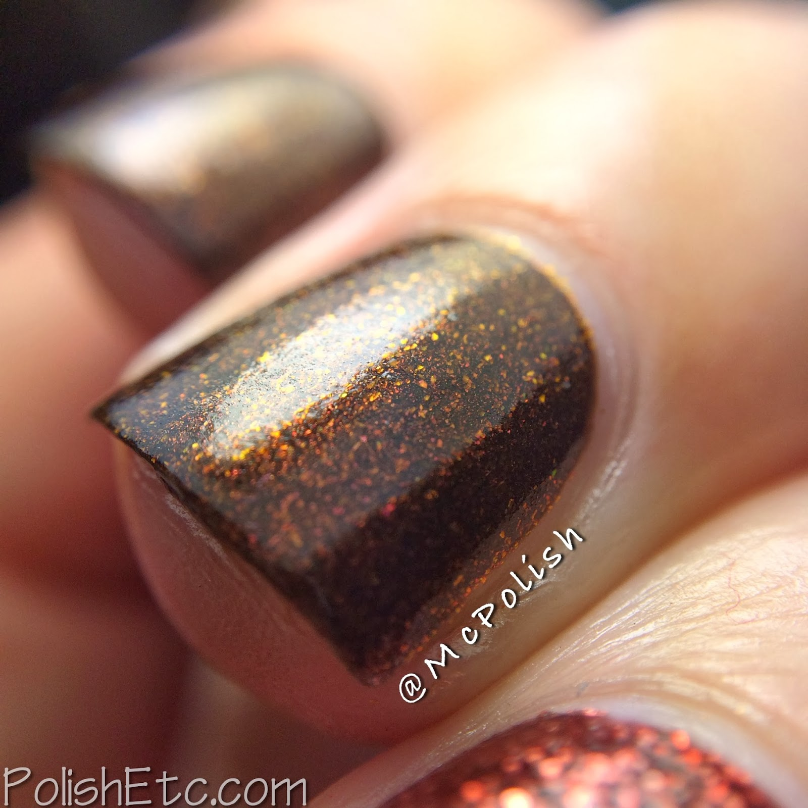 Revlon Parfumerie scented nail polish in Autumn Spice, macro