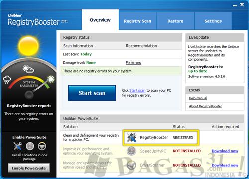 Uniblue RegistryBooster 2011 + Serial 2