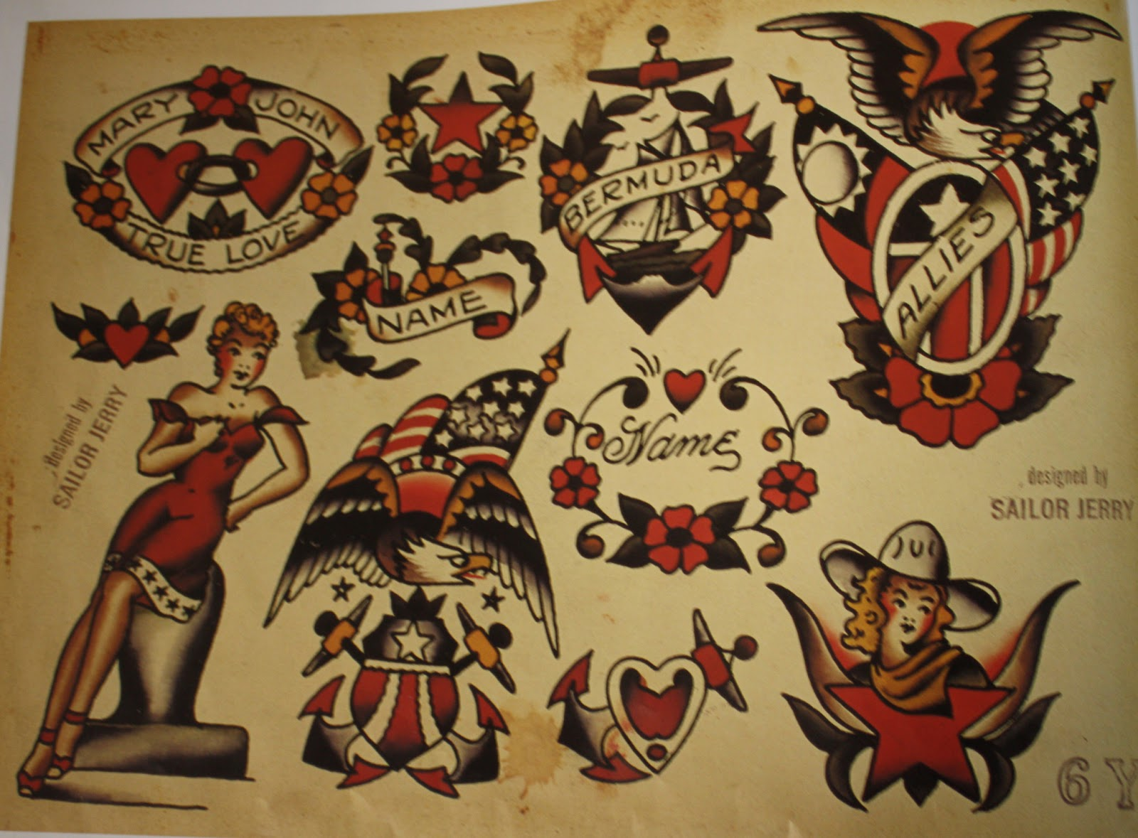 Sailor Jerry   Original Tattoo Flash 1