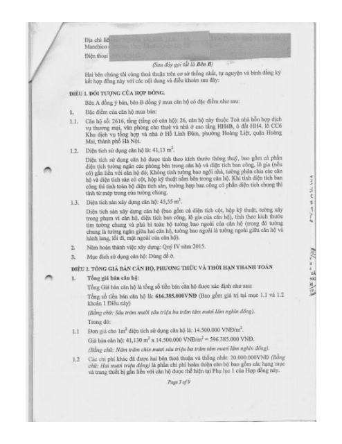 Trang 3 Chung cư hh3 linh đàm