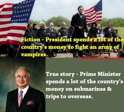 Abraham Lincoln Vampire Hunter vs Najib Razak