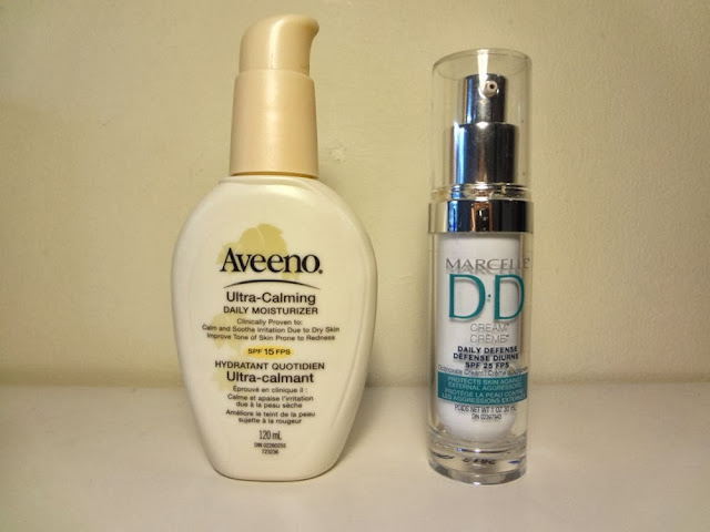 Aveeno Ultra Calming Daily Moisturizer, Marcelle DD Cream