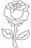 planse de colorat cu flori trandafiri