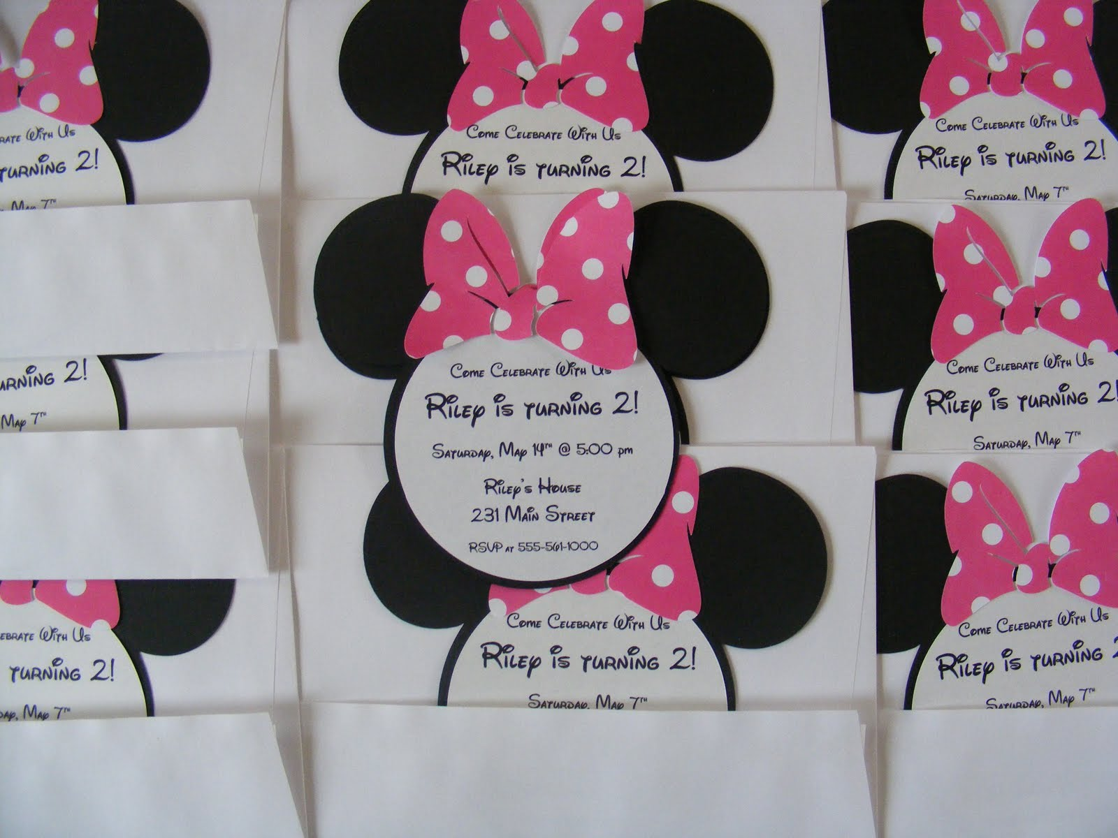 Minnie Mouse Birthday Party Invitations Whimsical Creations